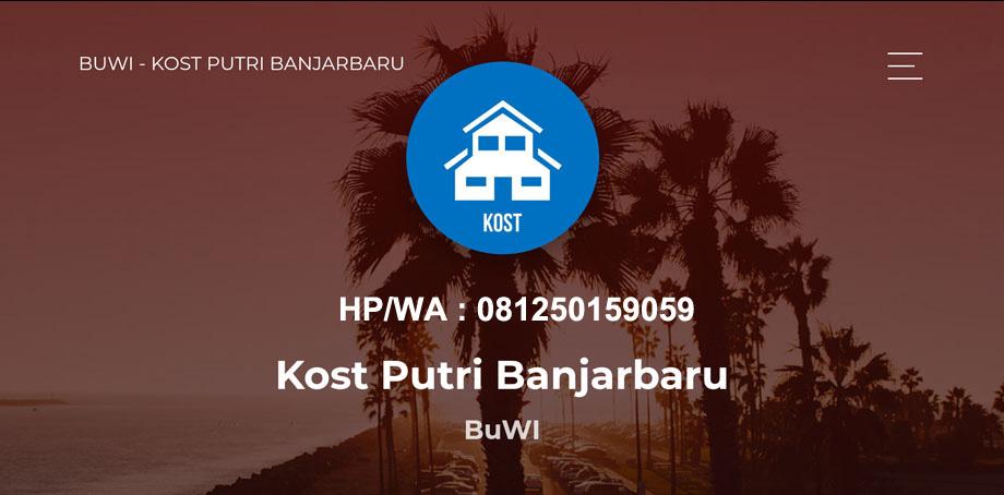 Kost Putri Banjarbaru Murah Free Wifi - BuWI