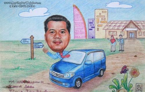 Karikatur Wajah di Depok